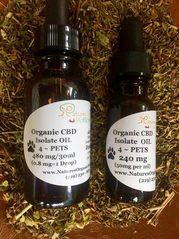 2 Sizes ~ Organic CBD Oil For Pets